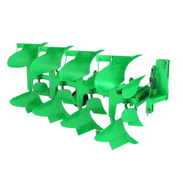 Plough reversible hydraulic 3D Models