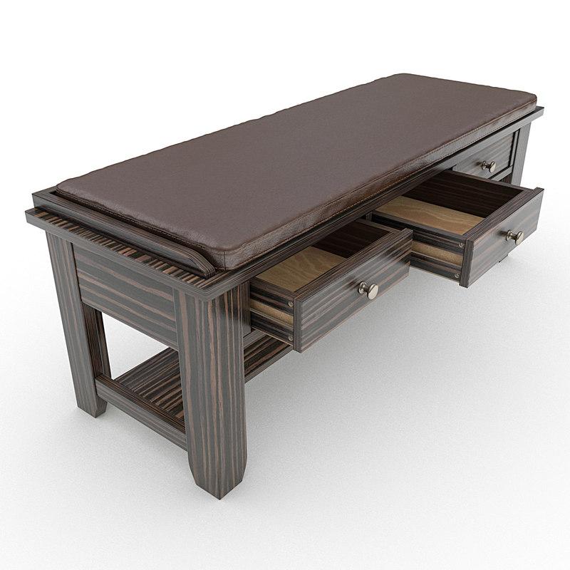 maya storage bench cushion