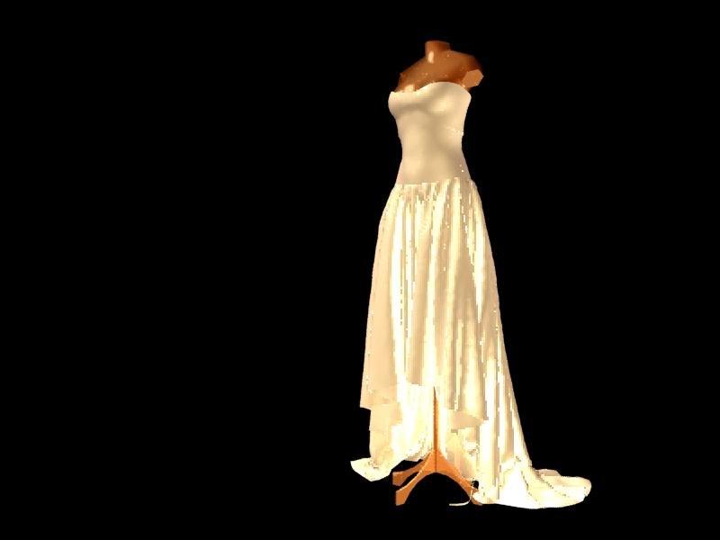 Wedding Dress Mannequins 3d Max