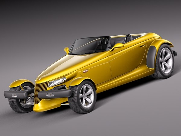 Plymouth Prowler stock 1997-2002 3D Models