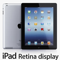 Apple iPad 4 3D models