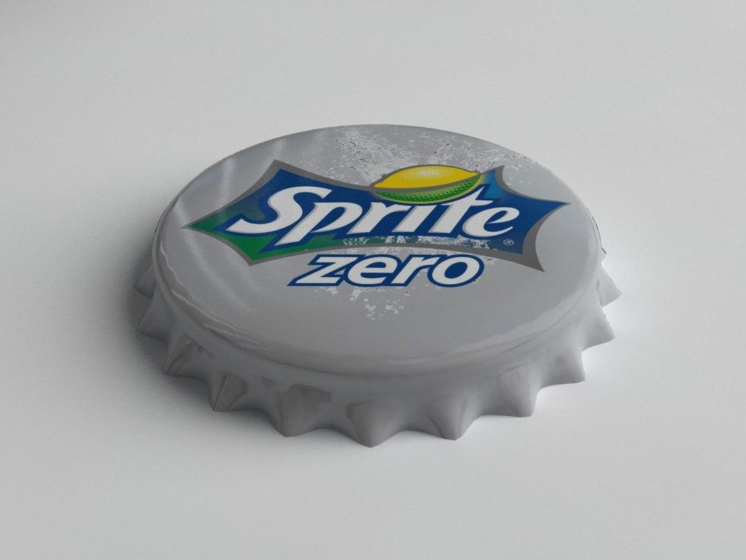 Sprite Zero Bottle Tin Cap