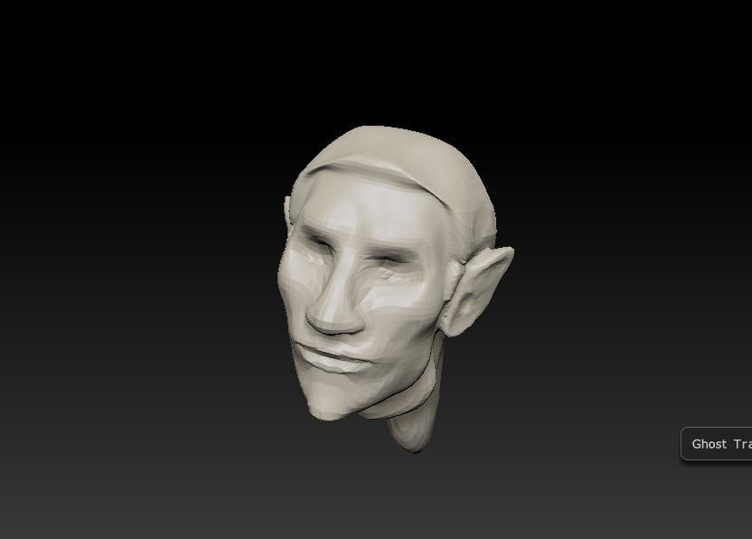 Base male elf head