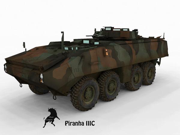 Piranha III C Spanish Marines 3D Models