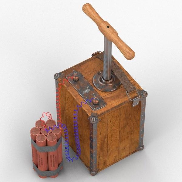 TNT & Detonator 3D Models