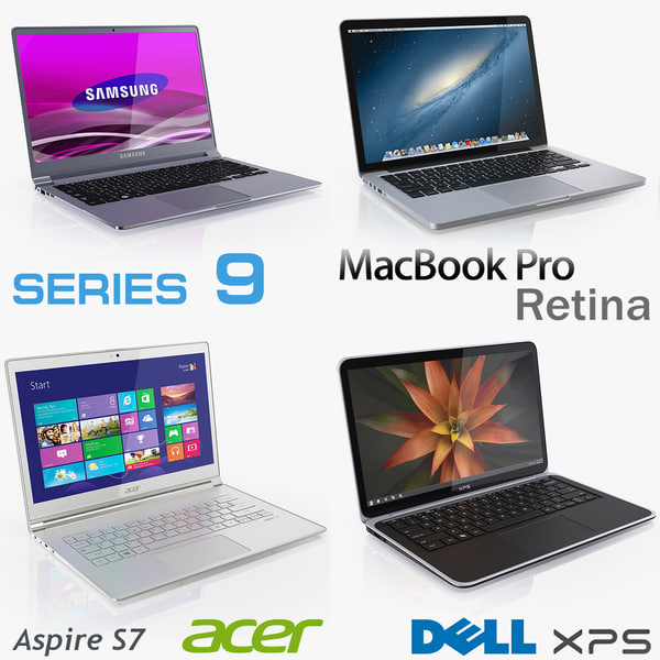 Ultrabook collection 2012 - 2013 3D Models