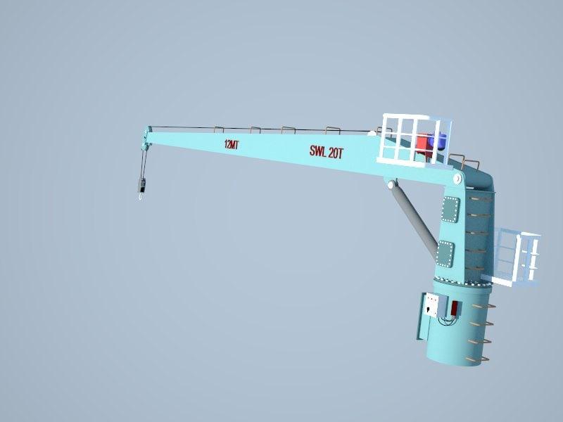 ships deck crane
