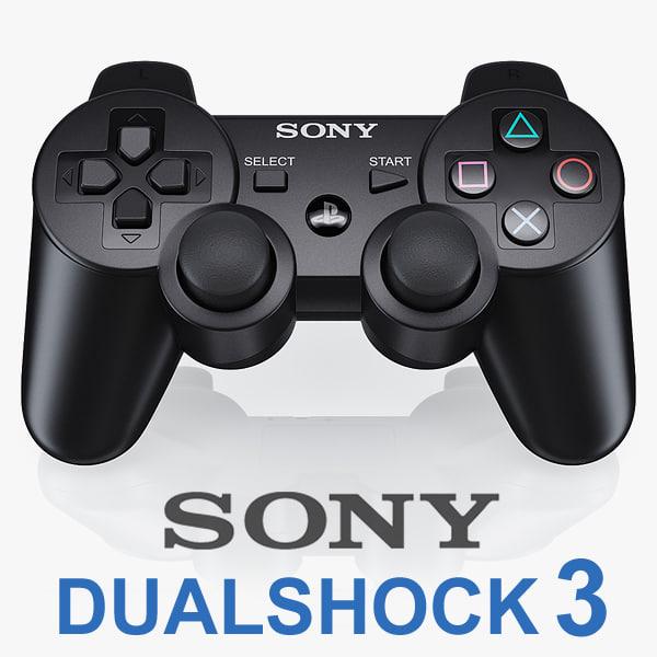 Sony PS3 DualShock controller v2 3D Models