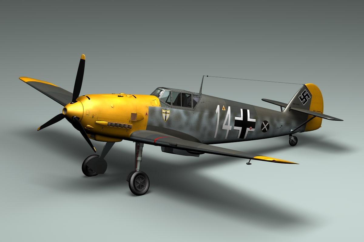 BF109E WWII German Airplane