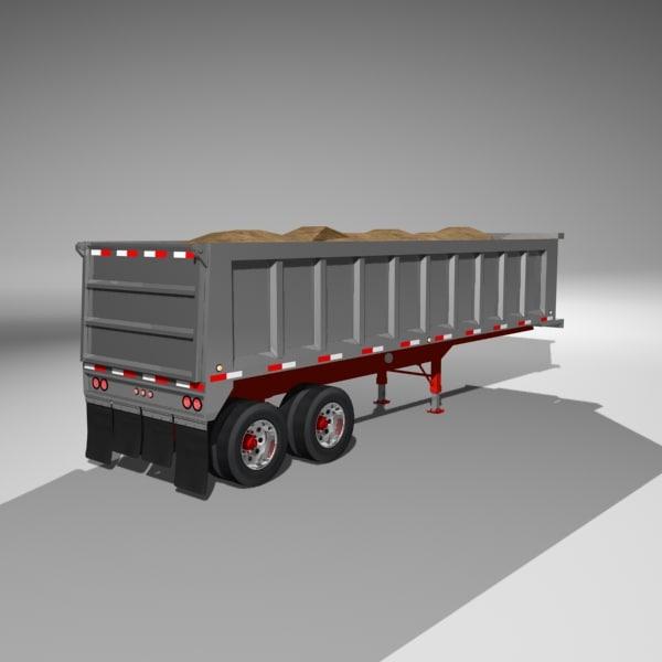 Dumper Trailer with Load