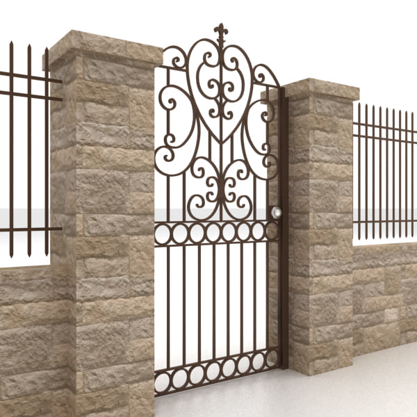 Metal gate and fence 5