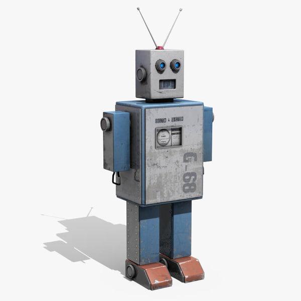 Tin Toy Robot 3D Models