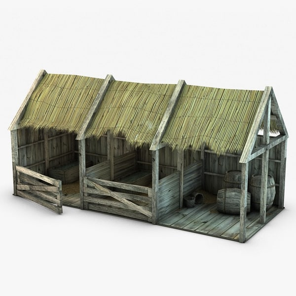 Wooden stable 3D Models