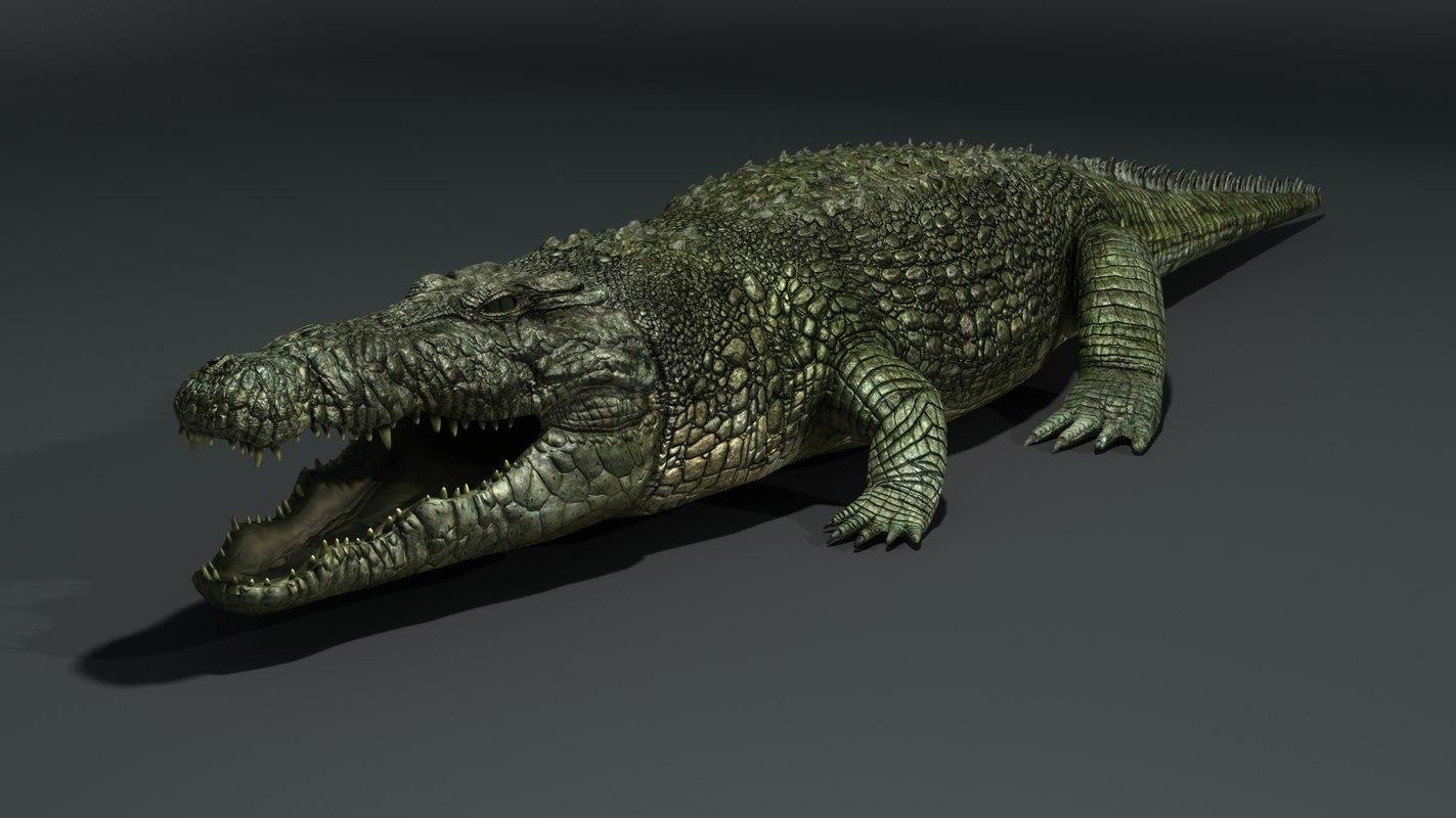 3ds max crocodile