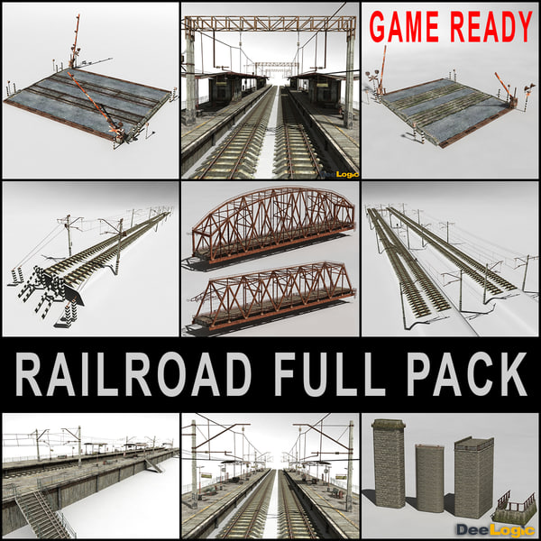 Railroad  Full Pack 3D Models