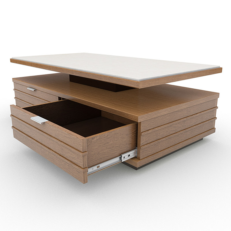 Coffee table 3d 3ds for Table 52 2014