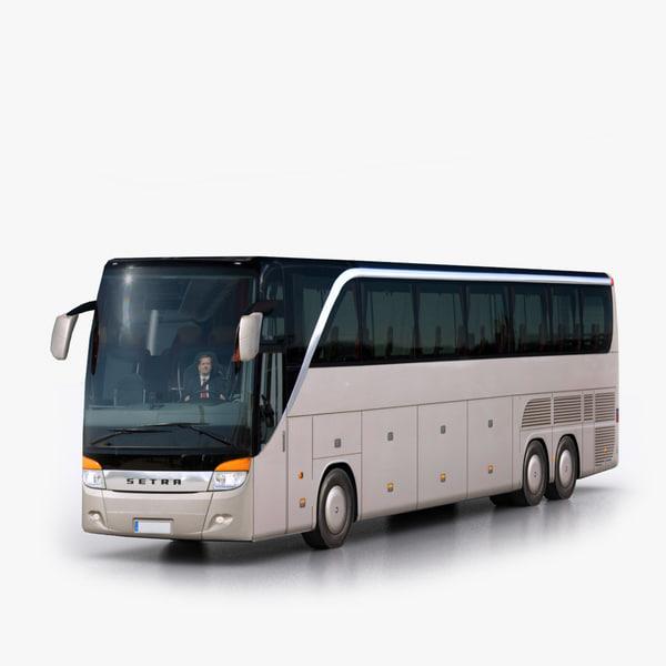 Setra S 417 HDH 3D Models