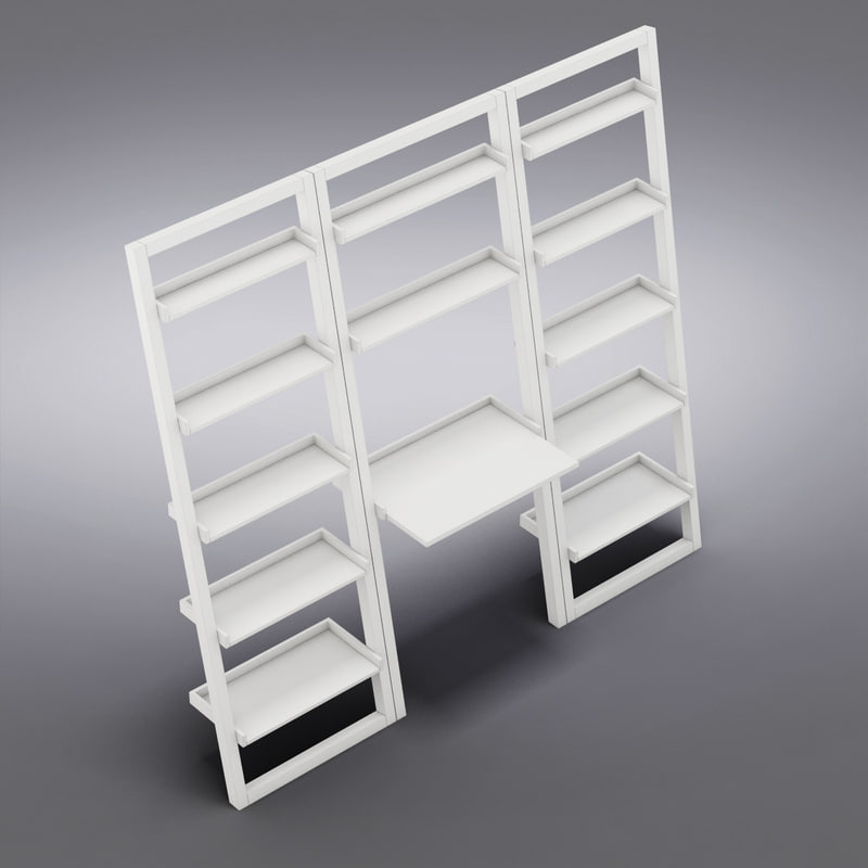 Sloane Leaning Bookcase Crate Barrel Crate&barrel Sloane White