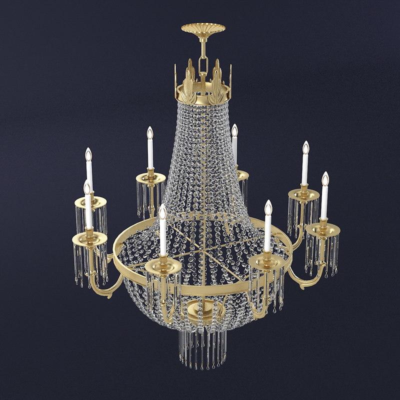 chandelier crystal 3d model