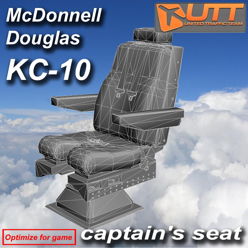 Captain seat KC-10 Douglas