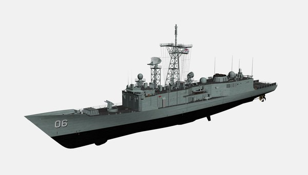 Adelaide (Oliver Hazard Perry) Class Frigate 3D Models