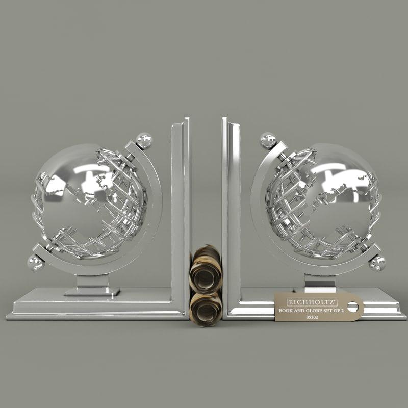 Eichholtz book and globe set of 2