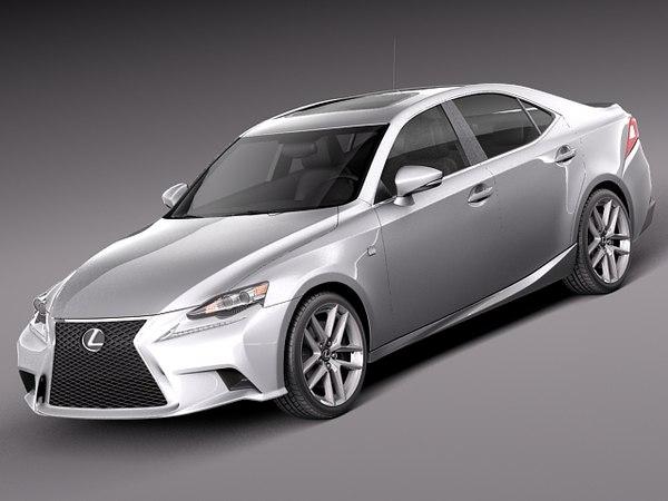 Lexus IS 2014 3D Models