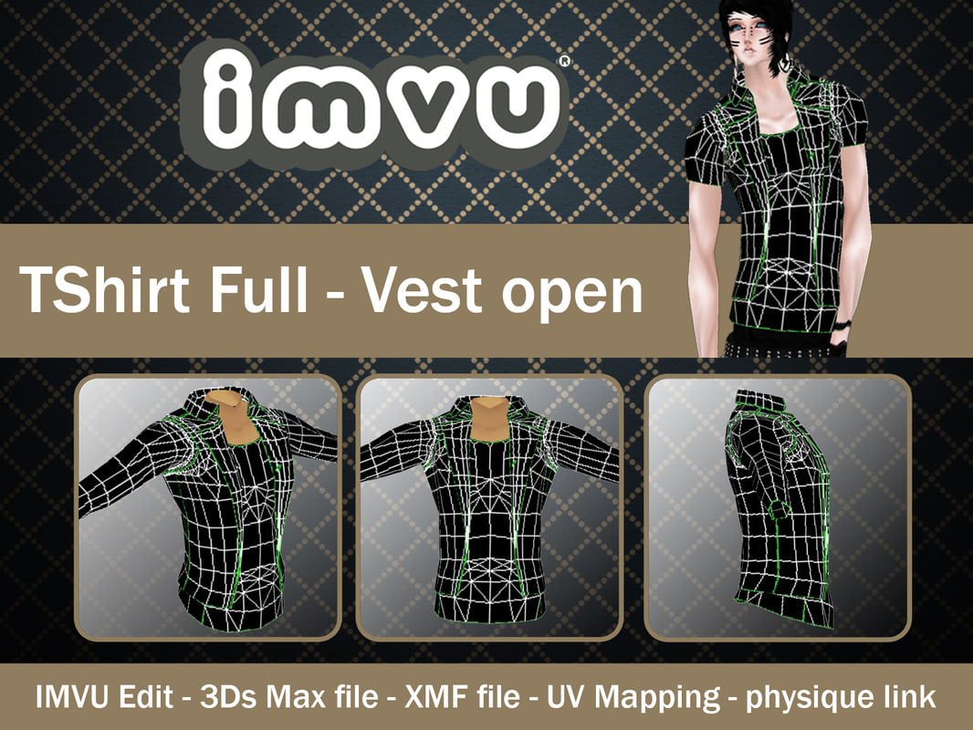 Imvu Uv Map.Keef\'s IMVU. 3d 3ds Imvu Open. Avatar UV Texture ...