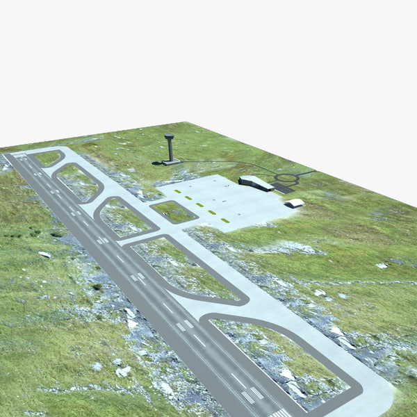 Small Airport 3D Models