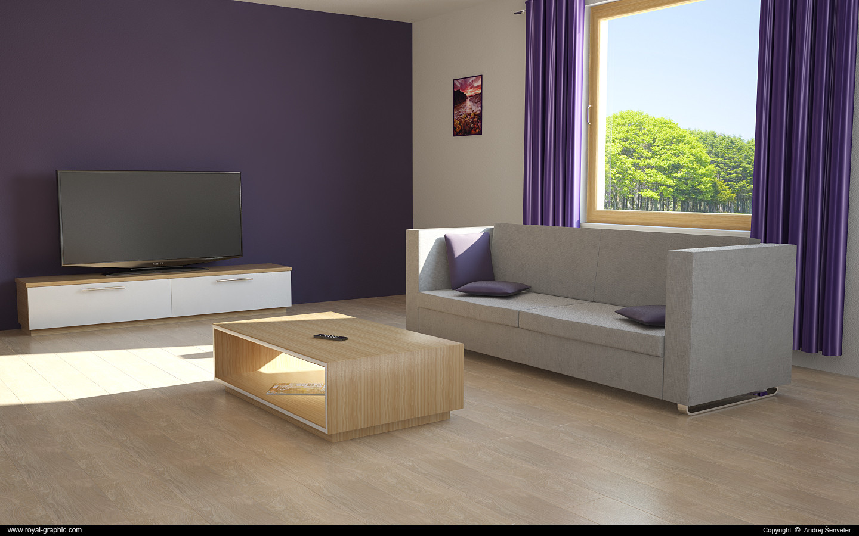 living room c4d free
