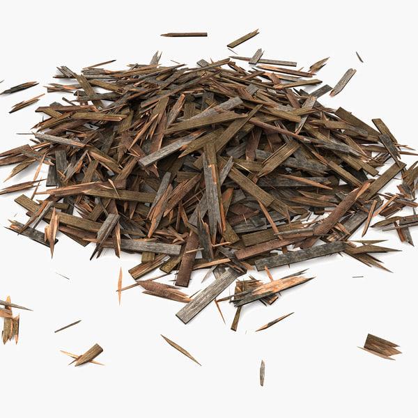 Wooden Plank Lumber Sawdust Debris (2) Texture Maps