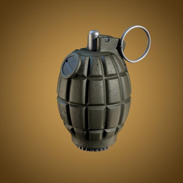 36M Mills bomb 3D Models