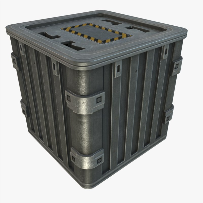 3ds max metal crate for Metal shipping crate