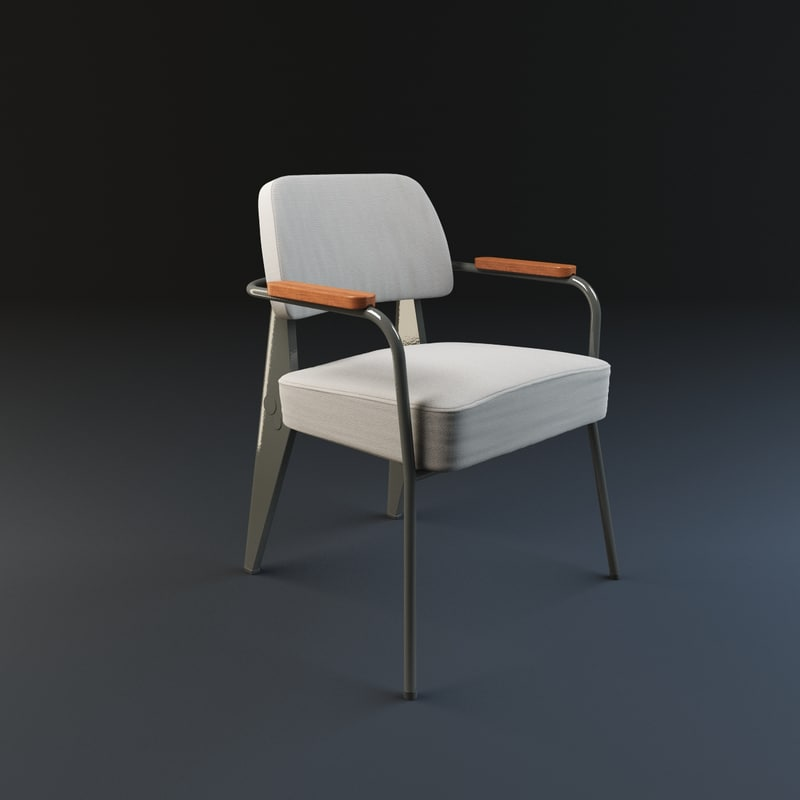 Fauteuil direction vitra 3d model for Fauteuil vitra