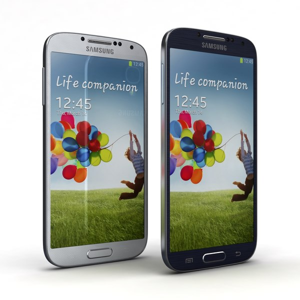 Samsung Galaxy S4 Black Mist & White Frost 3D Models