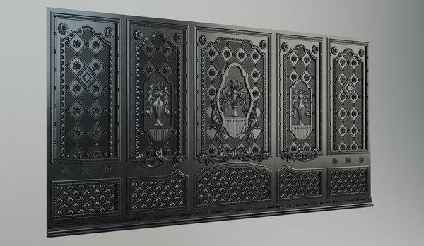 The cast-iron decorative panel 3D Models