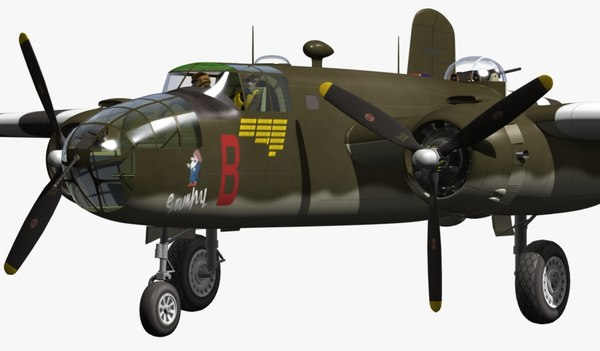 North American B-25 Mitchell 3D Models