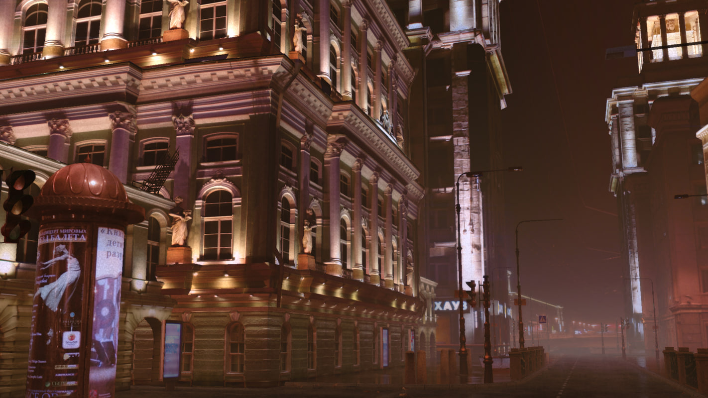 Photoreal buildings city street realistic town Moscow 3D Paris NewYork