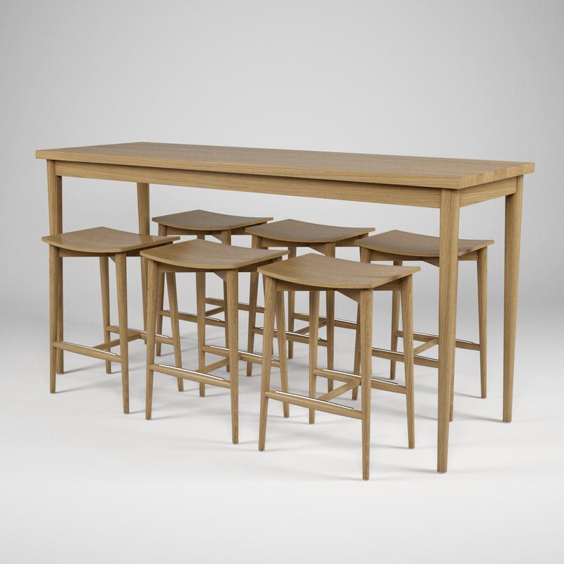 3d jonas oak hb 505 table model