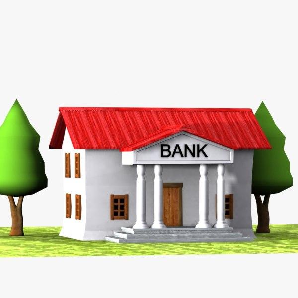 3dsmax cartoon bank toon - Bank cm ...