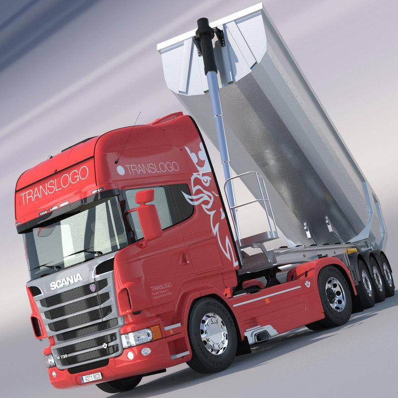 Scania R730 V8 with Aluminium Dumper Trailer