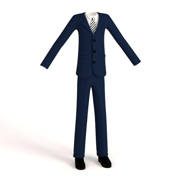 male suit cartoon 3ds