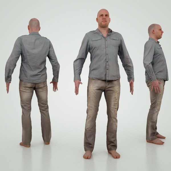 Male Character Jeans 3D Models
