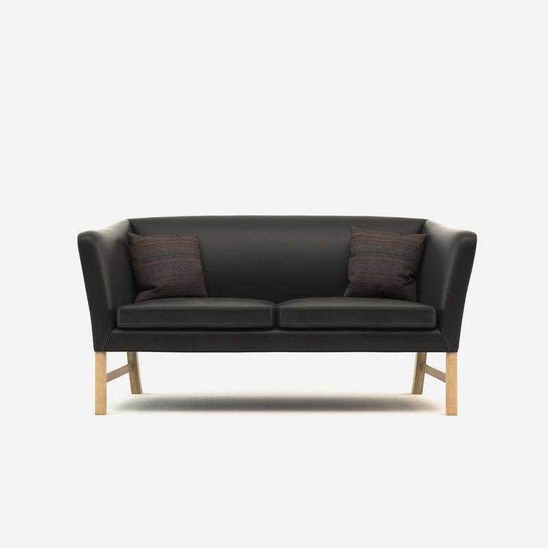 Sofa 02 3d model formfonts 3d models textures male for Sofa bed 3d model