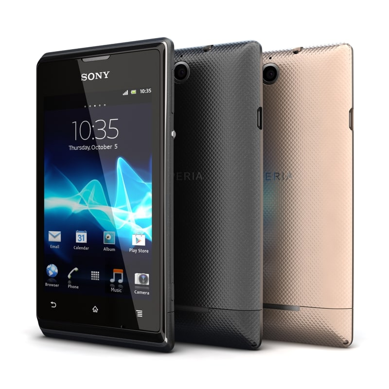 Sony Xperia E dual Black & Gold