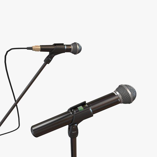 Shure SM58 Microphones 3D Models