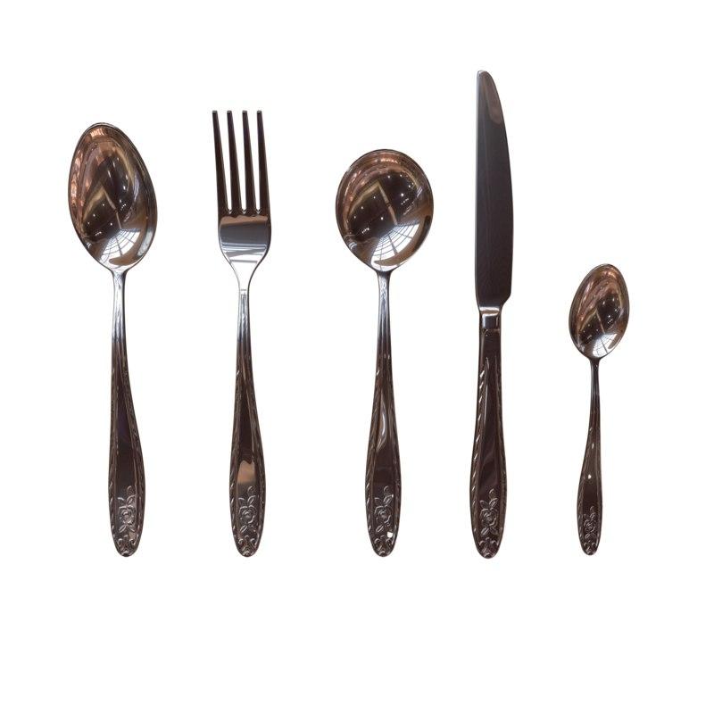 Cutlery rose pattern