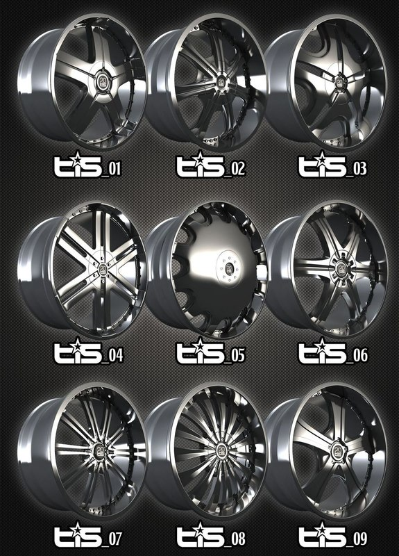 TIS alloys pack 9rims