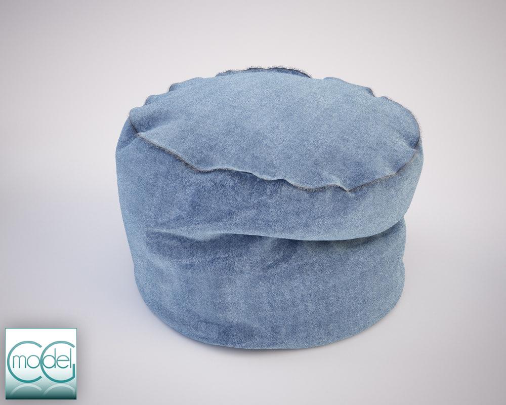 round pouff 09