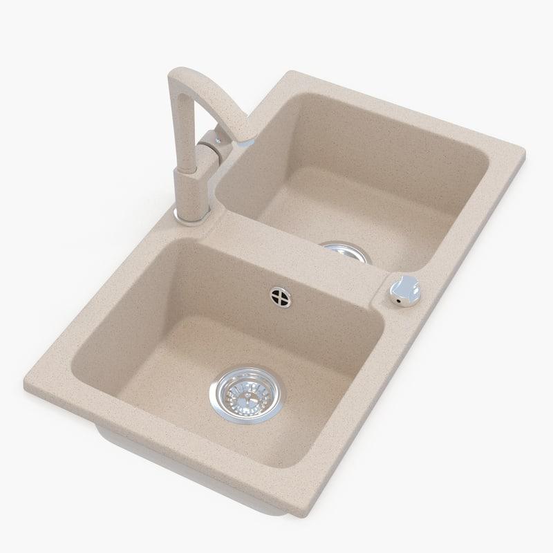 Kitchen Sink Model: 3d Model V Ray Kitchen Sink Tap